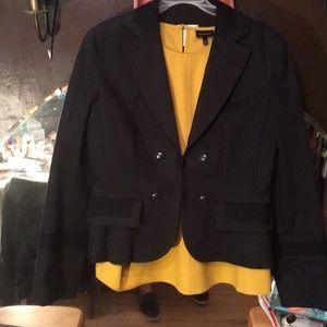 LOFT size 12 tailored military style black jacket